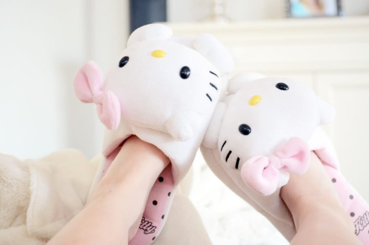 Pantunflas de hello kitty