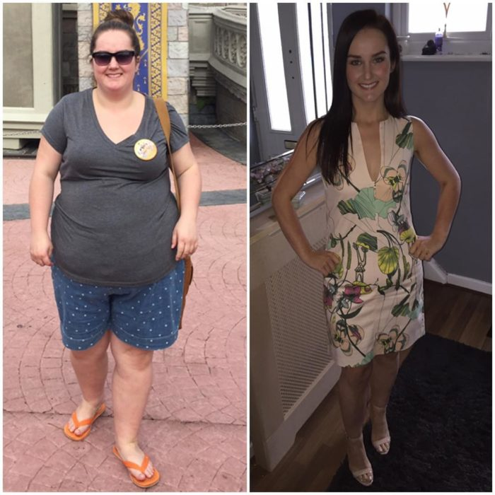 Jennifer Ginley con 120 kilos y 57 kilos