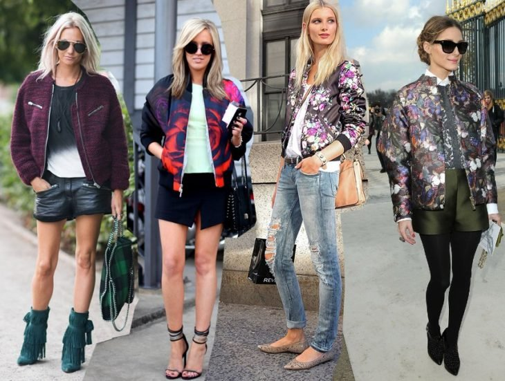 Chicas usando bombers jackets
