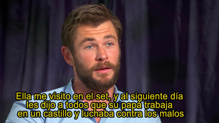 Chris Hemsworth diaglogo