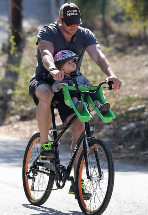 Chris Hemsworth en bici