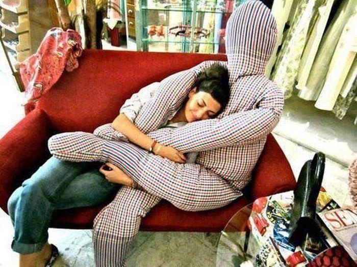 almohada humano