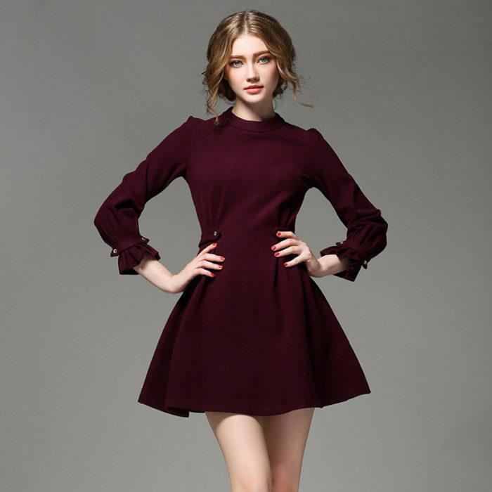 vestido guinda
