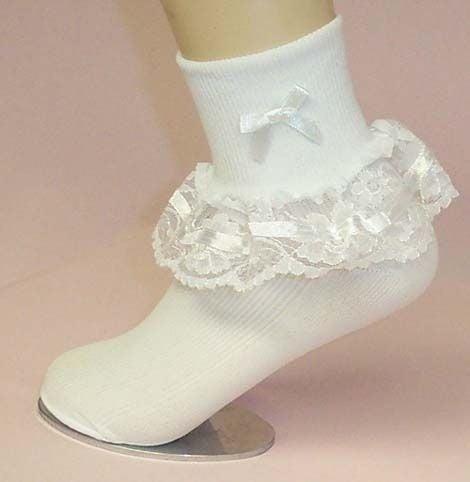 calceta con olanes