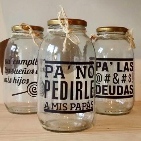 frascos de ahorros