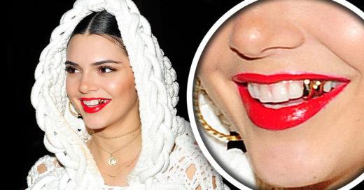 Kendall Jenner intenta hacer tendencia los dientes de oro y las fanáticas de la moda no sabemos como sentirnos al respecto