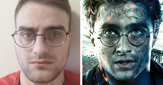 Persona que se parece a harry potter
