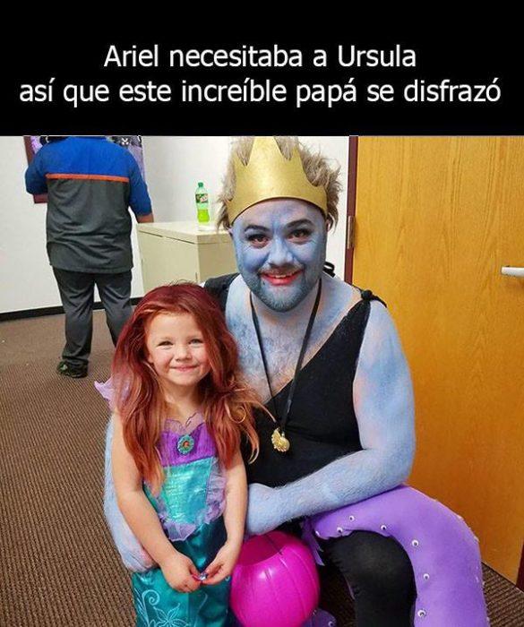 Padre soltero vestido como villana para ayudar a su hija