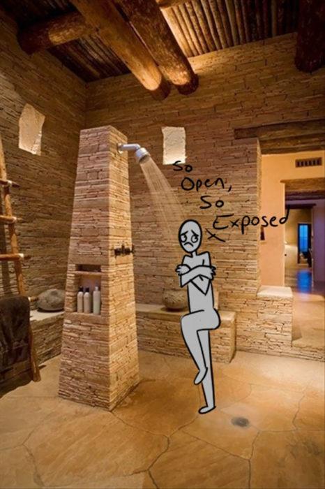 Ilustración que muestra la utilidad de las duchas de los millonarios