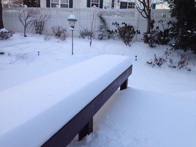 banca con nieve