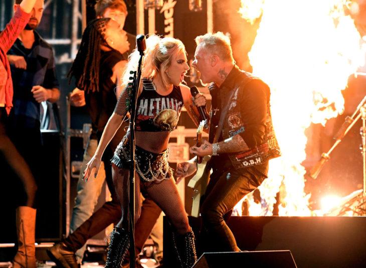 Metallica y lady gaga juntos