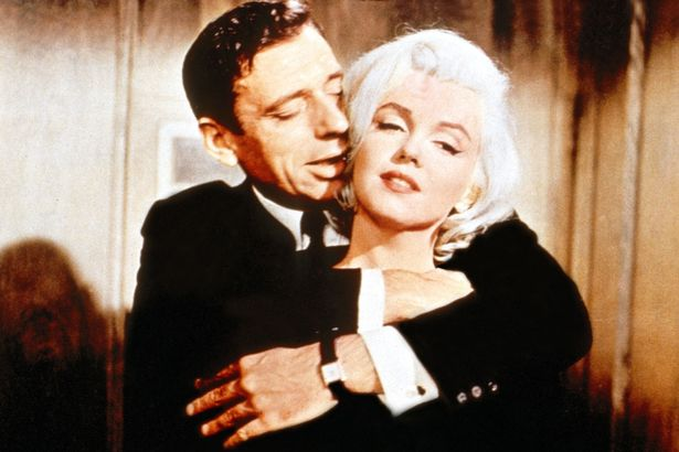 Marilyn Monroe y un actor francés