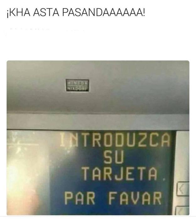 Meme cajero automático