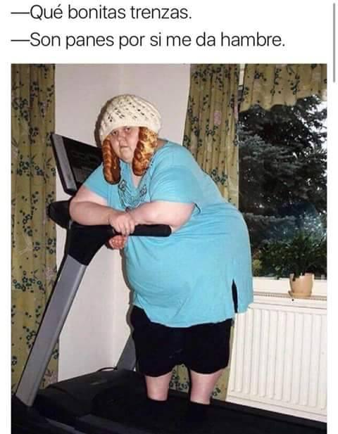 meme mujer trenzas