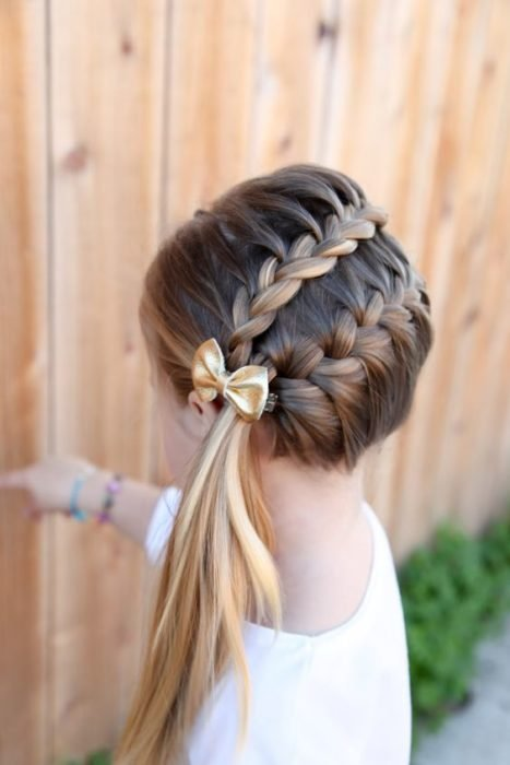 Hairstyles for girls with a side braid