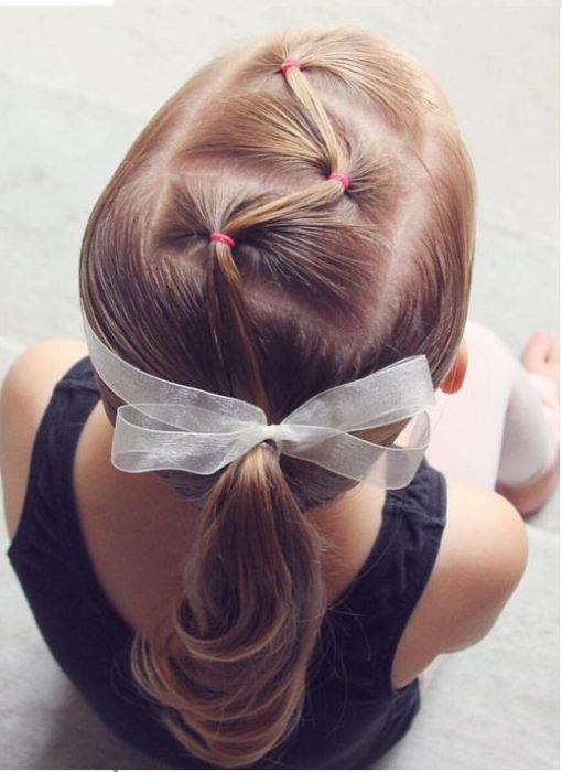 Zigzag ponytail hairstyles for girls