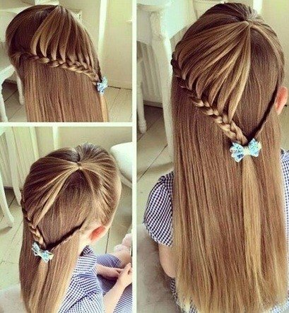 Hairstyles for girls braid heart style