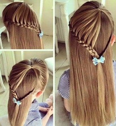 Peinados para niñas al estilo trenza de corazón