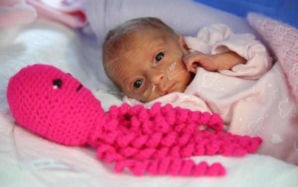 bebé con pulpo a crochet
