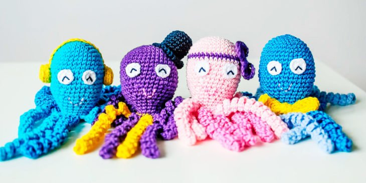 pulpos de crochet