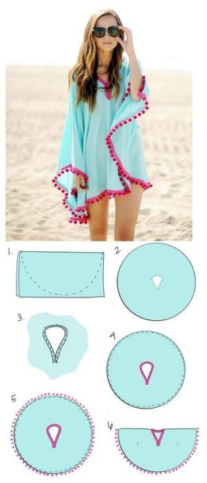 túnica para la playa
