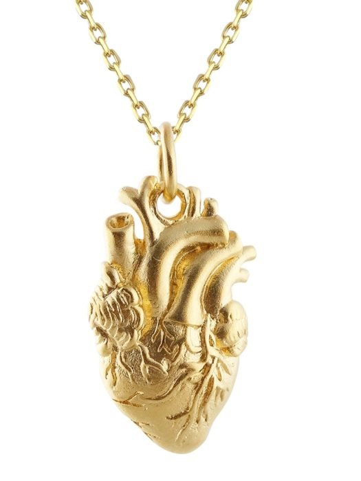 Collar de corazón de oro