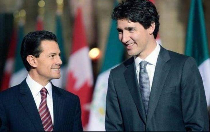 Primer ministro de canadá junto a Peña Nieto