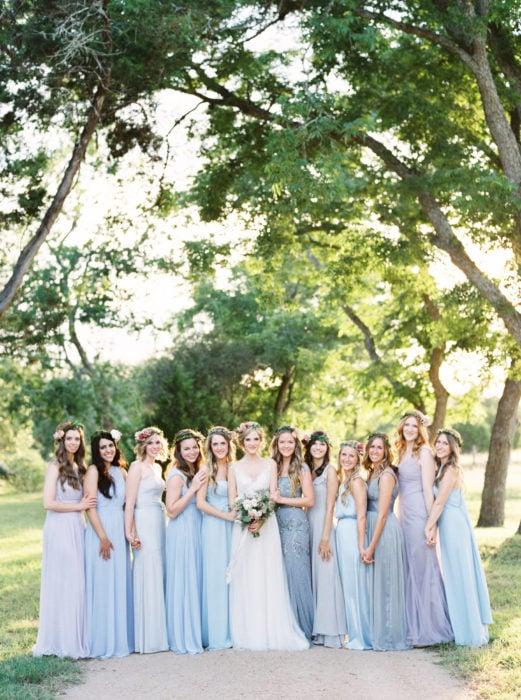 Vestidos azules de dama de honor