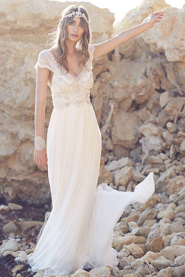15 vestidos de novia sencillos con estilo millennial