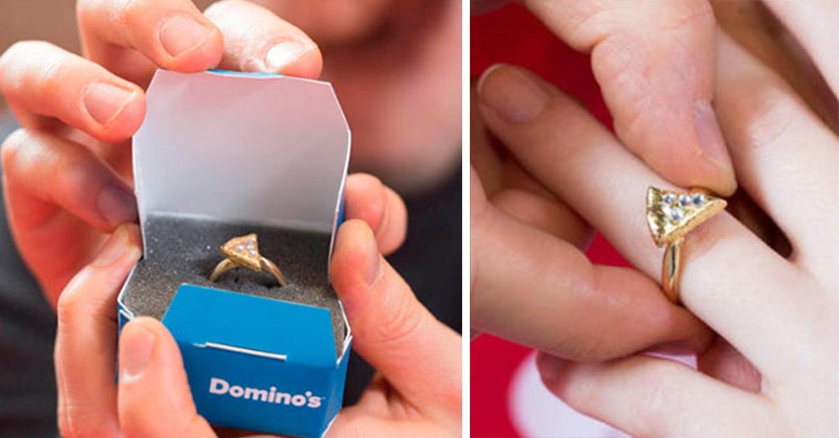 Domino's Pizza lanza anillo de compromiso en forma de pizza