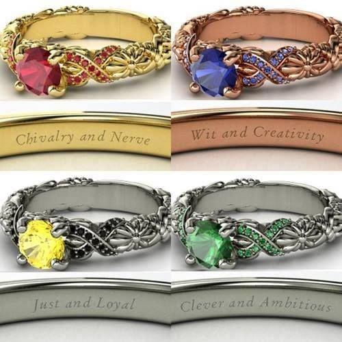 anillos inspirados en la película de harry potter