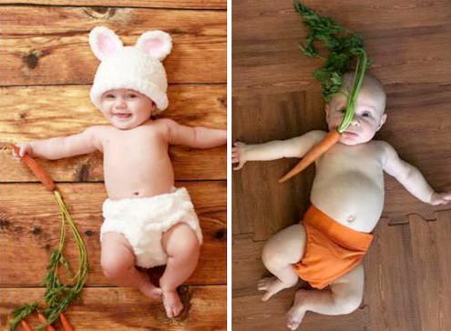 bebe con una zanahoria editada