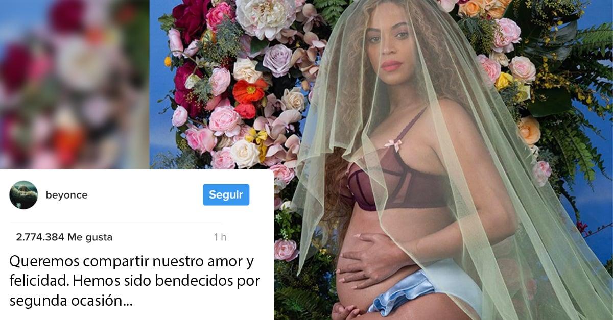 Beyonce anuncia que está embarazada ¡y por partida doble!