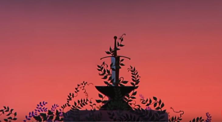imagen animada de espada en la piedra