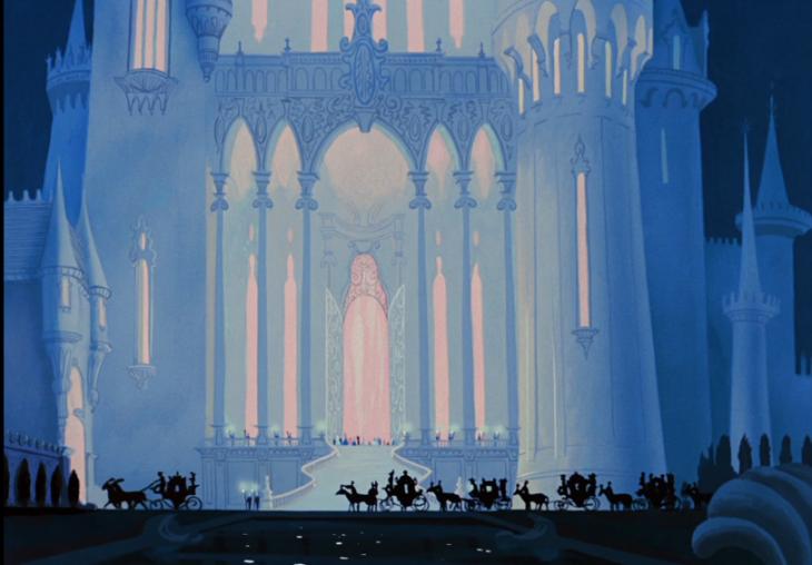 imagen animada de castillo grande blanco