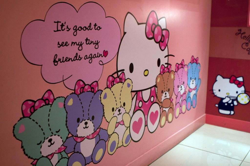 cafe hello kitty pared