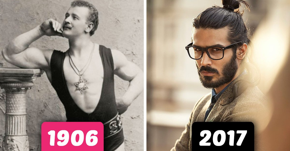How standards of male beauty have changed over the last 100 years