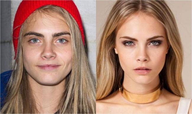 cara delevinge antes y después