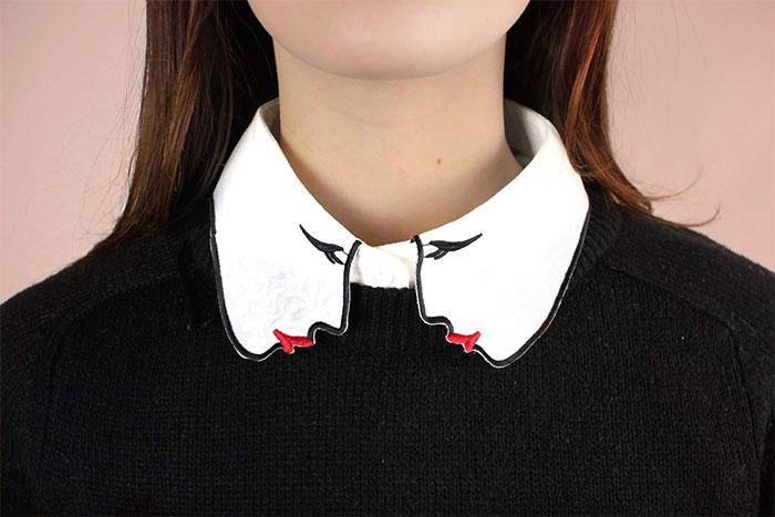 cuello de dibujo de mujer