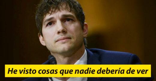 Ashton Kutcher se declara en contra la explotación infantil y su mensaje ha estremecido al mundo