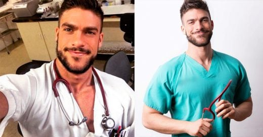 """Es """"el enfermero más guapo del mundo""""; su termómetro y pectorales lo confirman"""