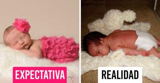 Divertidos errores que muestran lo malo de imitar las fotos de bebes