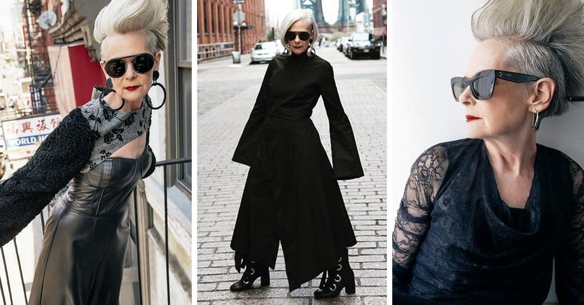 Tiene 63 años, es bloggera de moda y desafía los estereotipos