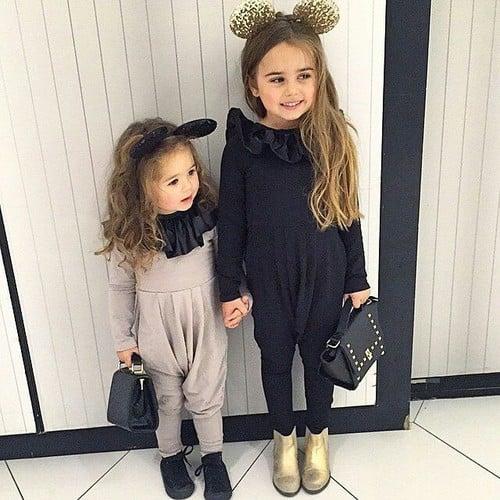 hermanitas disfrazadas de ratón