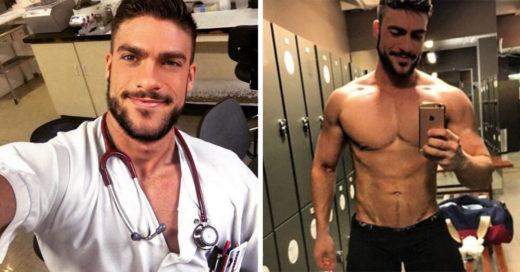 """Con bata y estetoscopio español se convierte en """"el enfermero más sexy del mundo"""""""