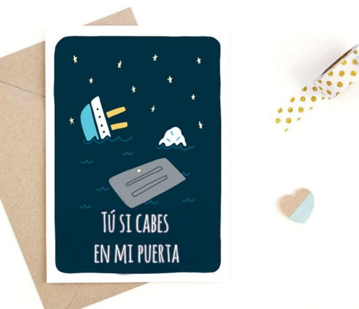 tarjeta con ilustracion y frase