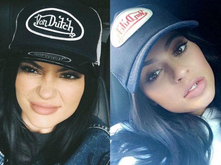 chica con gorra de camionero