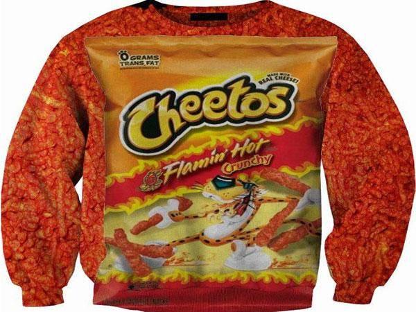 la sudadera de cheetos
