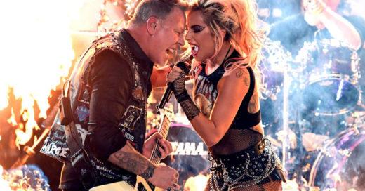 Lady Gaga y Metallica rockearon de una forma espectacular en los Grammy