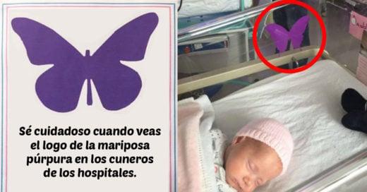El significado de esta mariposa púrpura en los cuneros de recién nacidos te tocará el corazón